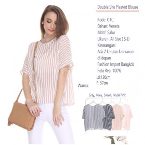 01C DOUBLE SITE PLEATED BLOUSE