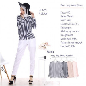 01D BASIC LONG SLEEVE BLOUSE