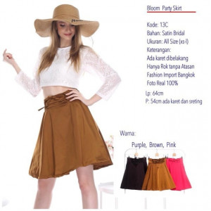 13C BLOOM PARTY SKIRT