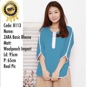 B113 ZARA BASIC BLOUSE
